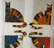 Cat themed quilt by someofmywork