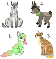 Christmas Adoptables *Collab* closed by Sicila