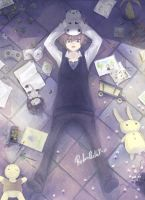 KHR Tsuna Laying on the FLOOR by Shumijin