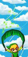 Bookmark - Deku Leaf Gliding by sketchtastrophe