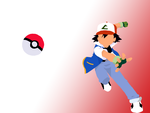 Ash Ketchum Wallpaper by shelle-chii