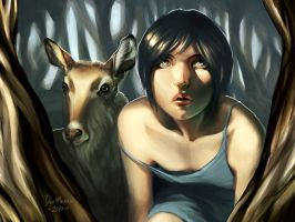 Deer Girl by DanMasso