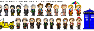 Doctor Who Sprites - Set 1 Complete by MystSaphyr