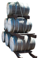 Barrels (three-quarter view) by Digimaree