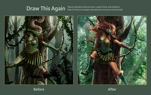 Elf Archer Evolution by mansarali