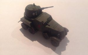 Zvezda 1/100 scale ab10 Heavy Armoured Car by Get2daChoppa