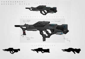 Forerunner Weapon (Assault Rifle) by AbduDavids