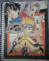 Naruto Trio, with their summons by MiCkIart14
