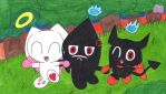 The chaos chao trio is here by Angelchao64