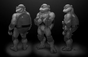 Mikey character s grayscale by danimation2001