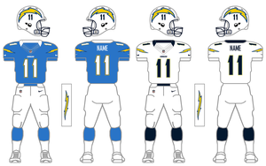 Nike Elite 51 Chargers Uniform Tweak by SimplyMoono
