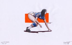 NFL Pin Up- Bears by ImfamousE
