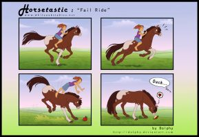 Horsetastic - Fail Ride by DolphyDolphiana