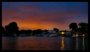 Sunset Over the Canal by salamiatomi