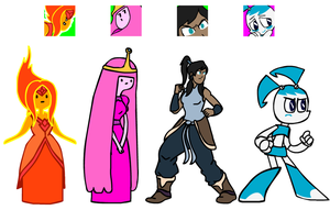 Toon gals' idles/icons by madoldcrow1105