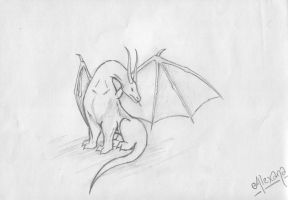 Grooming Dragon by Guenhwyvar-Drizzt