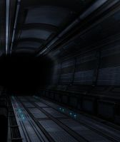Sci-Fi Hallway by beere