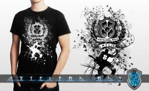 Axtelera-Ray Music T-Shirt Graphics by Visual3Deffect
