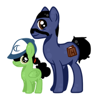 Lee and Clem Pony by Sherlovi