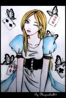Alice and the Black butterfly by MagicalDoll31