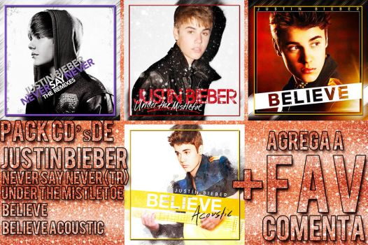PACK CD'S DE JUSTIN BIEBER by hugo-valle