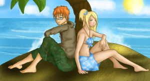 Loki x Lucy Stranded Together by IcyPanther1