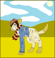 Scarecrow Dog by nikkithedog3