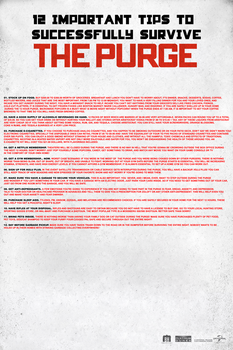 The Purge Survival Poster (Promo) by FearOfTheBlackWolf