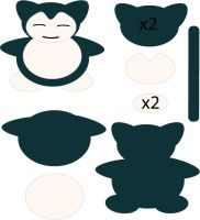 Snorlax Pattern by Mokulen22