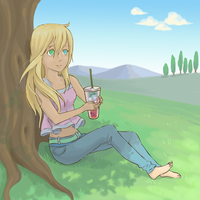 Request: Midsummer Sip by graced-for-art