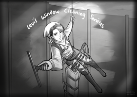 SNK/AOT - Levi's Window Cleaning Services by Sealkittyy