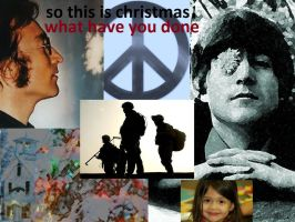 john lennon. christmas theme by analovecatdog