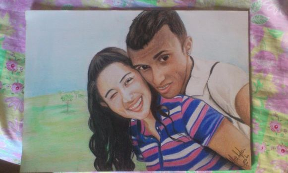 Isabella and Alex color pencils in canson A3 by wgacton