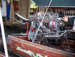 Turbo Car Engine on Boat by striderchea