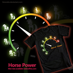 welovefine.com - Horse power t-shirt by hinoraito
