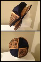 Blue and Gold Renaissance Hat by Mink-the-Satyr