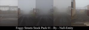 Foggy Streets Stock Pack 01 by Null-Entity