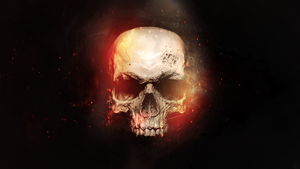 Skull in Flames Wallpaper [1080p] by FoehnGFX