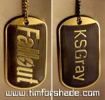 Fallout brass dog tag by TimforShade