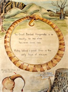 The Great Banded Hoop Snake by LAGiampietro