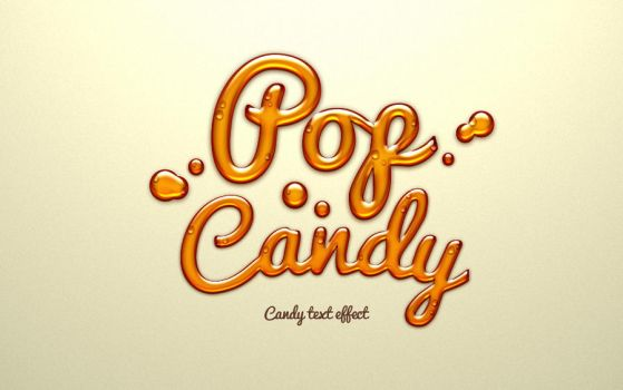 Free Psd Candy Text Effect by Pixeden