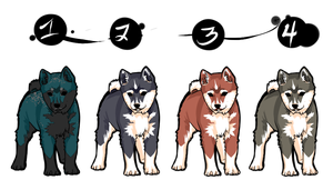 Shiba Adoptable Batch 2 - OPEN by Azraetine