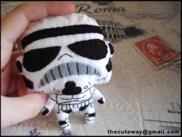 .: StormTrooper plushie :. by SaMtRoNiKa