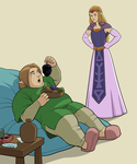 Link and Zelda by Soutch