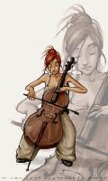 cellist by xiks