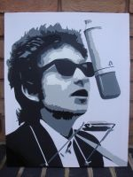 Bob Dylan - Spraypainted Stencil on Canvas by RAMART79