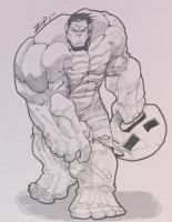 Hulk sketch by ZipDraw