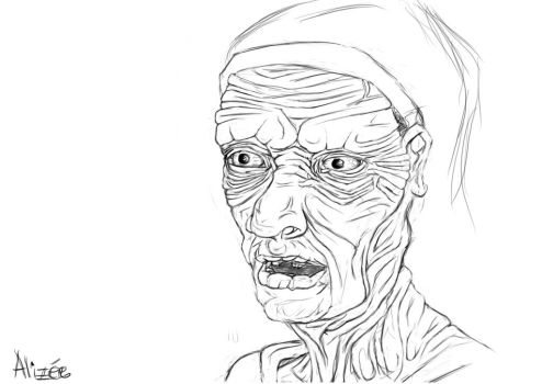 300 old person by Alizeedrawings