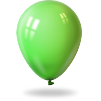 Lime Green Balloon by Sugaree33-Art