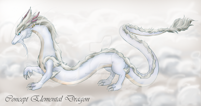 Concept Art - Elemental Dragon (New Presentation) by ovidiocleto